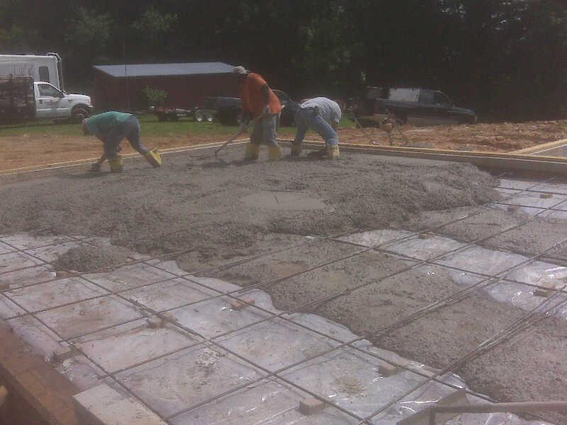 The Concrete Floor And Garage Pour